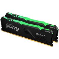 ОЗУ Kingston Fury Beast RGB 16GB (2х8GB) 3000MHz DIMM DDR4, (KF430C15BBAK2/16)