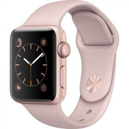 Смарт-часы Apple Watch Series 2, 38mm Rose Gold Aluminium Case with Pink Sand Sport Band, (MNNY2)